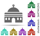 mosque in multi color style...