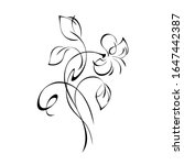 one stylized flower bud on a... | Shutterstock .eps vector #1647442387