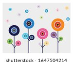 turkish amulet in the trees... | Shutterstock .eps vector #1647504214