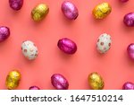 rainbow colored easter eggs... | Shutterstock . vector #1647510214
