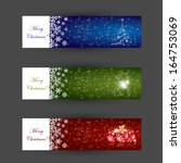 christmas banner concepts in...   Shutterstock .eps vector #164753069
