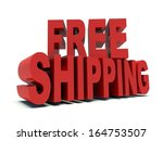 advertising words free shipping ... | Shutterstock . vector #164753507