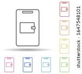 mobile wallet in multi color...