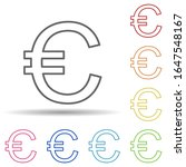 euro sign in multi color style...