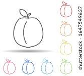 apricot in multi color style...