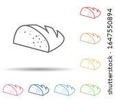 bread in multi color style icon....