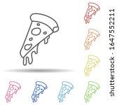 piece of pizza in multi color...