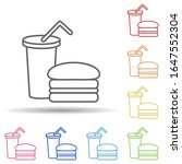 fast food in multi color style...