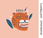 vector card with cute boho... | Shutterstock .eps vector #1647580471