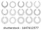 set of wreaths circular laurel... | Shutterstock .eps vector #1647612577