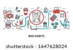 infographic bad habits concept  ... | Shutterstock .eps vector #1647628024