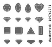 vector set of diamond design... | Shutterstock .eps vector #164763371