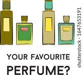 perfume bottles icons. eau de...   Shutterstock .eps vector #1647653191