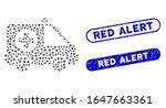 mosaic ambulance van and... | Shutterstock .eps vector #1647663361