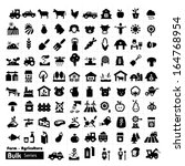 farm icons   bulk series | Shutterstock .eps vector #164768954