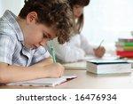 kids learning | Shutterstock . vector #16476934