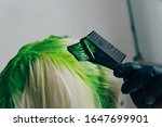 dyeing roots in vibrant lime... | Shutterstock . vector #1647699901