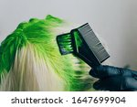 dyeing roots in vibrant lime... | Shutterstock . vector #1647699904