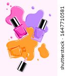 trendy skincare bottle design ... | Shutterstock .eps vector #1647710581