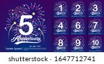 set of 1st 10th anniversary...   Shutterstock .eps vector #1647712741