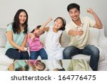 portrait of a happy family of... | Shutterstock . vector #164776475