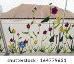 Construction Fence Covered Wit...