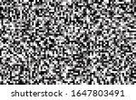 pixels seamless pattern black...   Shutterstock .eps vector #1647803491