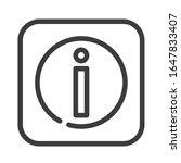 information black line icon....