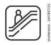 escalator black line icon....