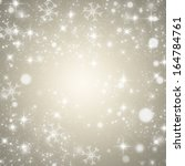 christmas light silver... | Shutterstock . vector #164784761