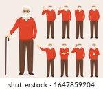 handsome senior man in casual... | Shutterstock .eps vector #1647859204