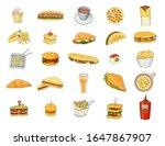 fast food vector illustration.... | Shutterstock .eps vector #1647867907
