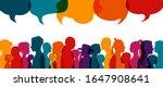 dialogue group of diverse... | Shutterstock .eps vector #1647908641