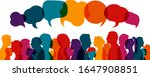 crowd talking.dialogue group of ... | Shutterstock .eps vector #1647908851