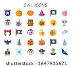 evil icon set. 30 flat evil... | Shutterstock .eps vector #1647935671