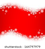 winter frame with snowflakes | Shutterstock .eps vector #164797979