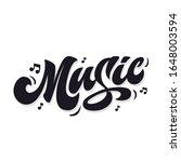 music. lettering inscription... | Shutterstock .eps vector #1648003594