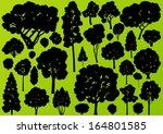 natural wild tree  bush and...