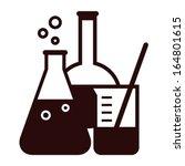 laboratory glassware isolated... | Shutterstock .eps vector #164801615