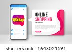 phone banner template. wow chat ... | Shutterstock .eps vector #1648021591
