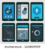 flat ui design infographic... | Shutterstock .eps vector #164804909