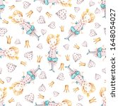watercolor cute nursery naive... | Shutterstock . vector #1648054027