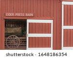 Red Barn With A Open Door...