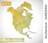 north america . eps10 file... | Shutterstock .eps vector #164820401