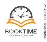 book time vector logo template. ... | Shutterstock .eps vector #1648215364