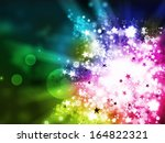Colorful lights xmas abstract background illustration - stock photo