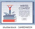 writes contest advertising... | Shutterstock .eps vector #1648246024