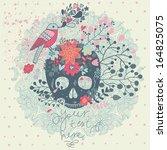 bright concept card in vector.... | Shutterstock .eps vector #164825075