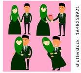 muslim marriage couple. just... | Shutterstock .eps vector #1648258921