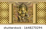 Hindu God Ganesha With...